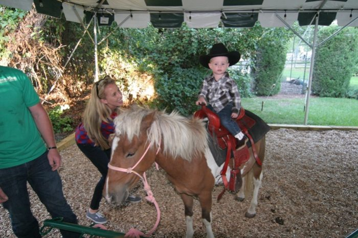 They may even be brave enough to take a pony ride.  Giddy up!