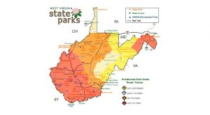 This Map Will Show You When and Where To View Fall Foliage In West Virginia