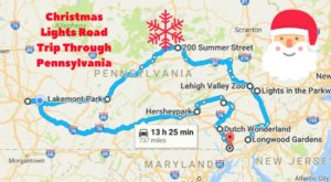 The Christmas Lights Road Trip Through Pennsylvania That's Nothing Short Of Magical