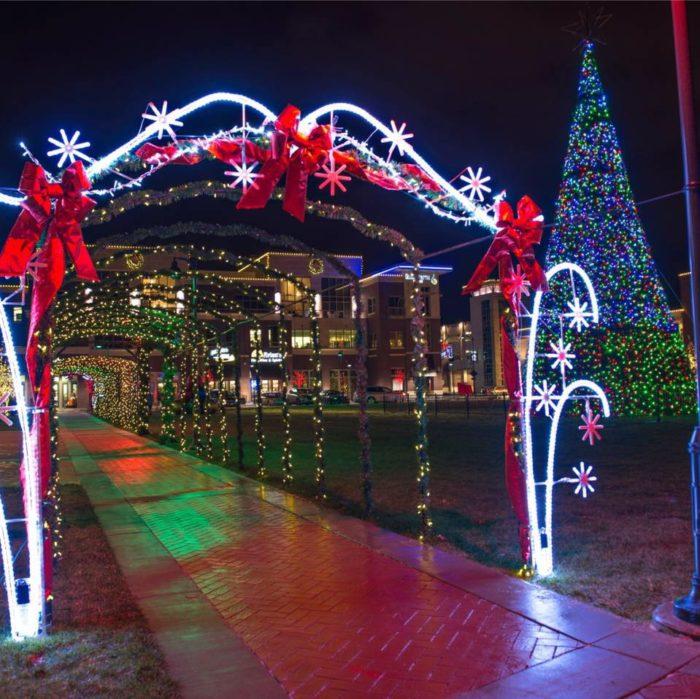 Manhattan Festival of Lights at Blue Earth Plaza (1641 Anderson Ave.  Manhattan) - 14 Best Christmas Light Displays In Kansas 2016