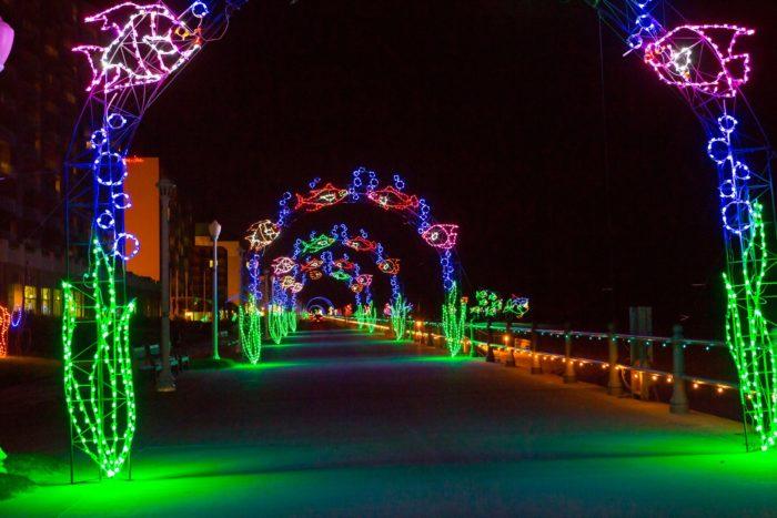 mcdonalds holiday lights at the beach virginia beach - Christmas Lights Virginia Beach
