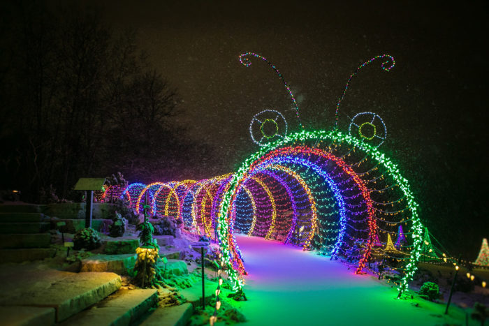 best christmas lights displays in wisconsin 1 garden of lights at green bay botanical gardens