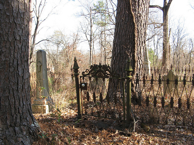 Fence around grave - Creepy Cleveland