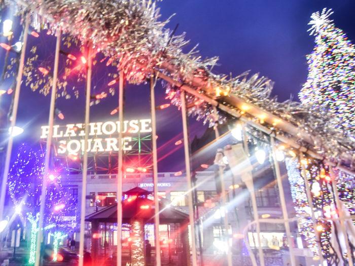 playhouse square christmas light display downtown