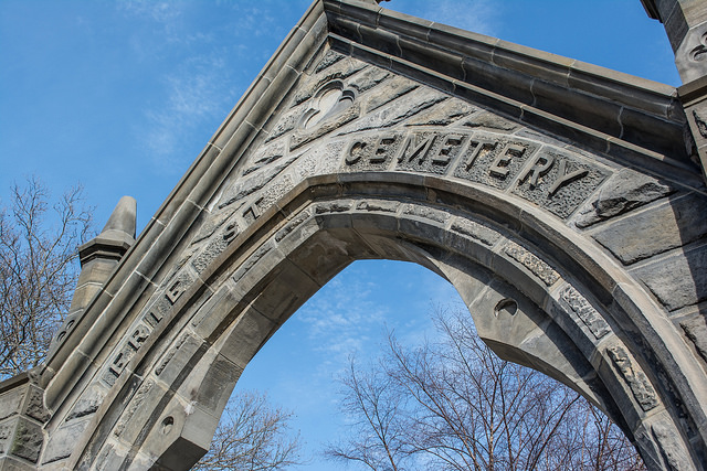 Erie St Cemetery Entrance - Creepy Cleveland
