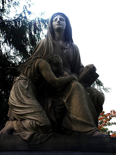 Hope statue Lake View Cemetery - Creepy Cleveland