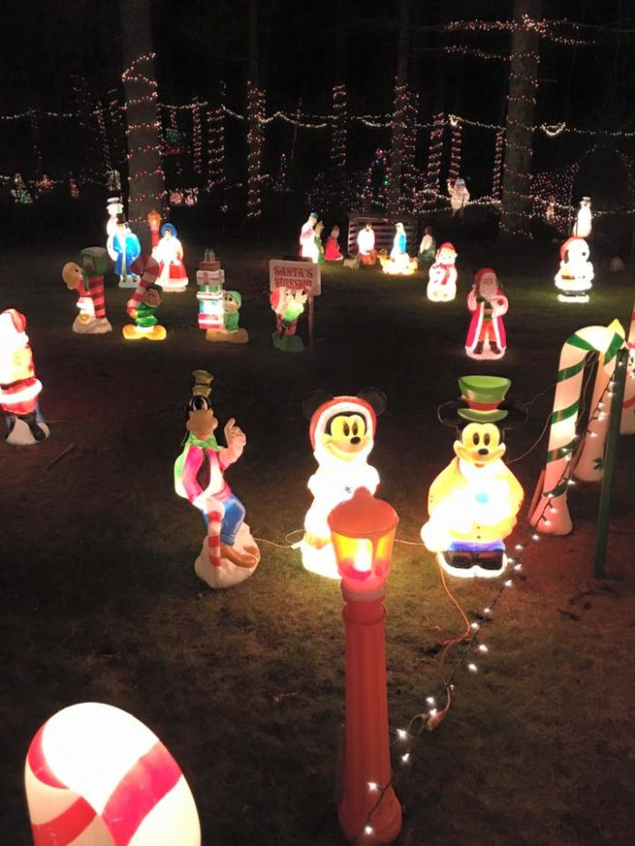 This christmas light display in rhode island is magic for Sidewalk christmas lights