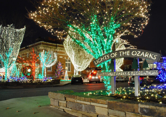 lights of the ozarks fayetteville square