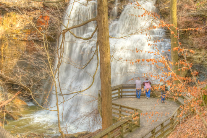 Brandywine Falls in autumn