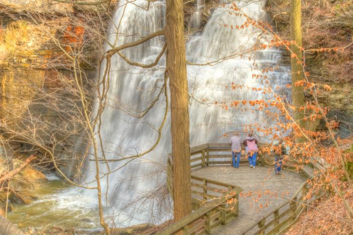 Brandywine Falls in autumn