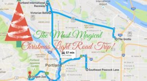 The Christmas Lights Road Trip Around Portland That's Nothing Short Of Magical