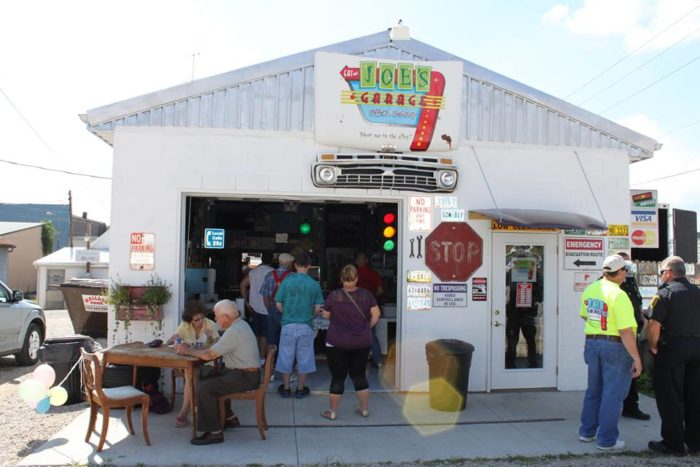 Joe s garage is the most unusual bbq restaurant in indiana