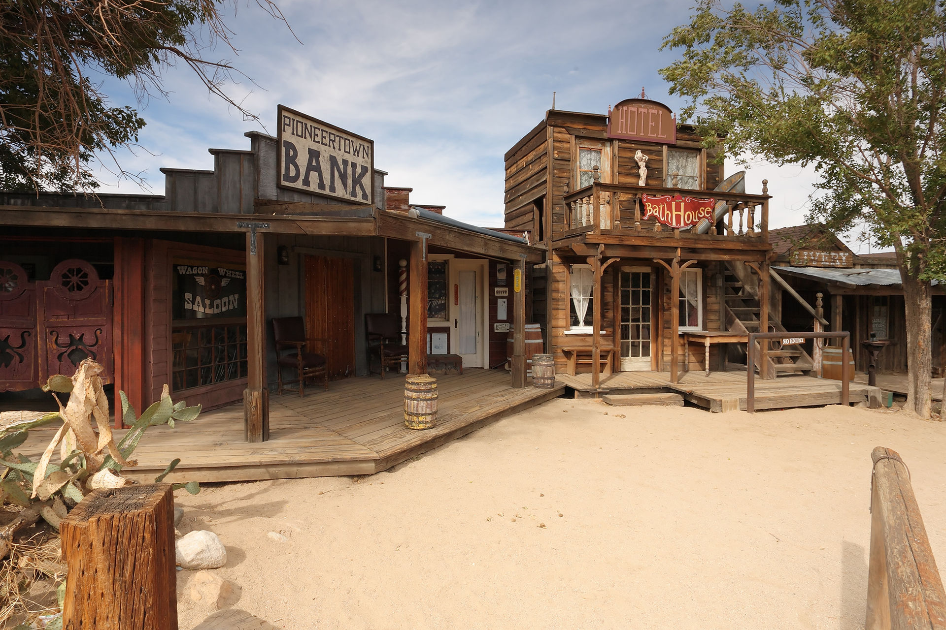 The abandoned pioneertown in southern california ghost for Bath house shop