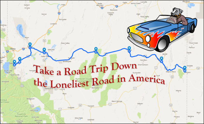 Loneliest Road In America Map.Take The Ultimate Nevada Road Trip Down The Loneliest Road In