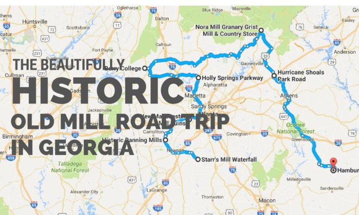 Take This Historical Old Mill Road Trip Through Georgia