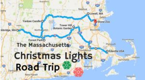 The Christmas Lights Road Trip Through Massachusetts That's Nothing Short Of Magical