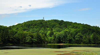 Rising 1,951 feet above the surrounding area, Timms Hill is the highest natural point in the state.