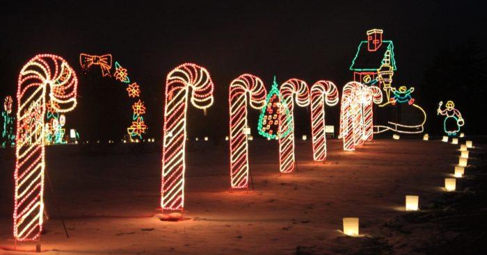 Galaxy of Lights at Huntsville Botanical Garden - 4747 Bob Wallace Ave,  Huntsville, AL 35805 - 2016 Christmas Lights Road Trip In Alabama