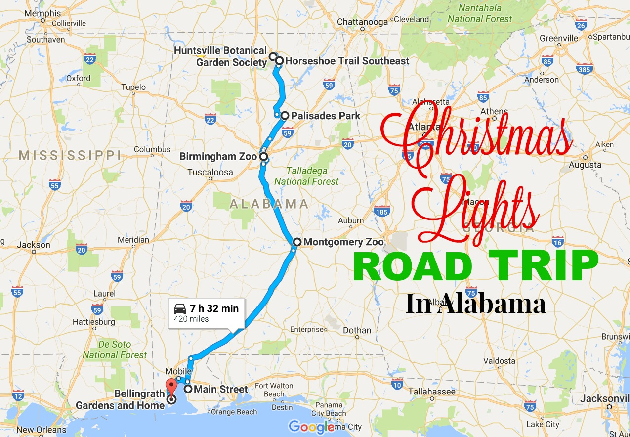 2016 Christmas Lights Road Trip In Alabama