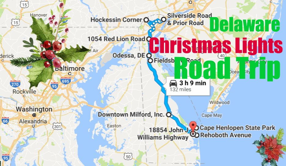 The Greatest Christmas Lights Road Trip Through Delaware