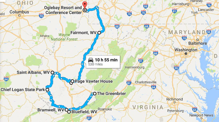 Google Maps - Take This Road Trip Through West Virginia To See The Best Christmas