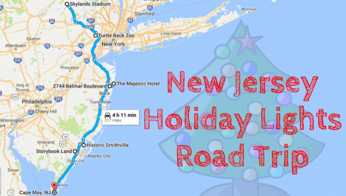 New Jersey Christmas And Holiday Lights Road Trip - Detailed map of nj