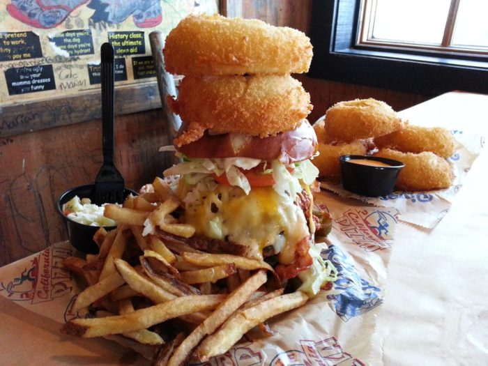 Rise To The Challenge To Eat The Huge Kitchen Sink Burger In South ...