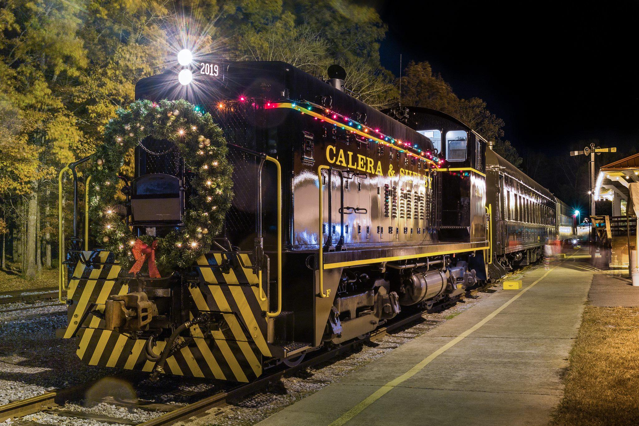 Polar express train ride in alabama heart of dixie railroad museum