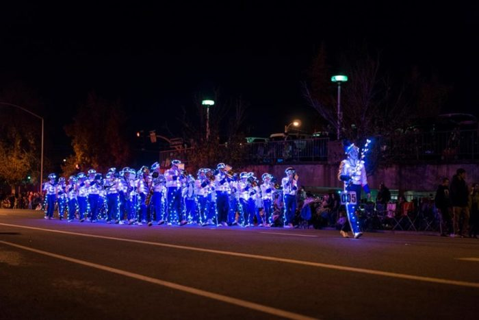 on december 3rd at 6pm the town of redding with continue to be lit long into the evening with holiday festivities