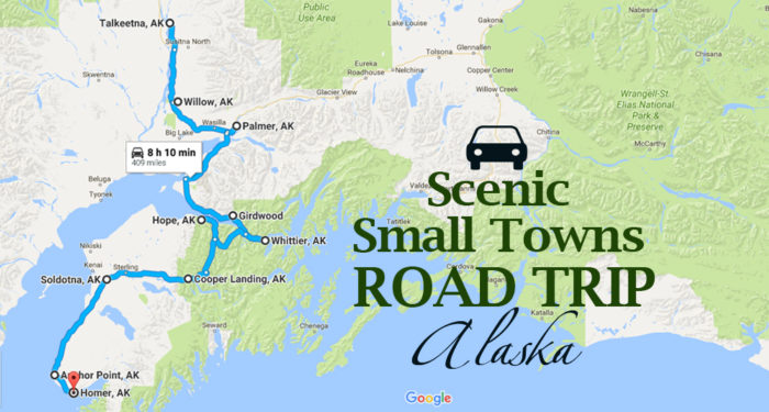 Take This Road Trip Through Alaskas Most Picturesque Small Towns - Map of alaska towns