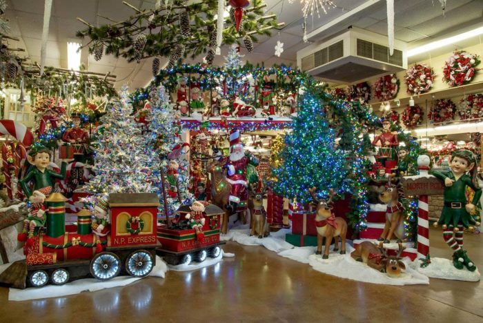 the store spans over one acre and is filled with lights garland and other decorations that are just begging to be part of your home this year
