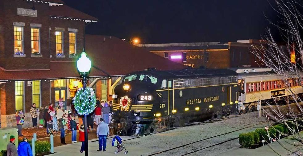 Image result for polar express train ride elkins wv image