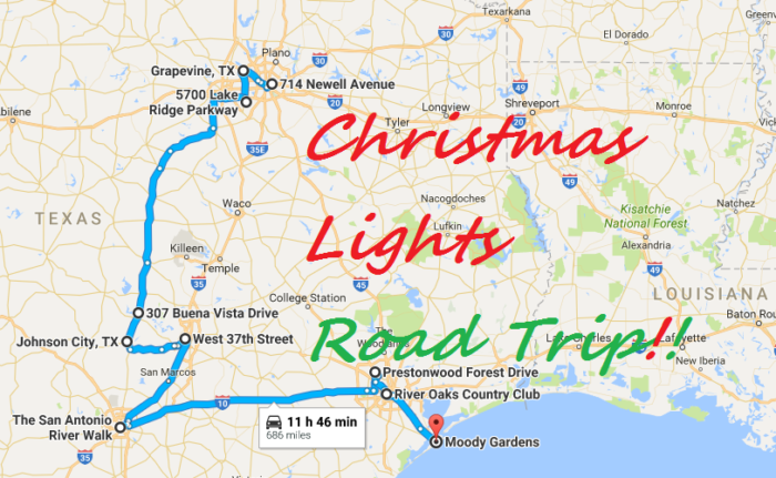 Rossville christmas lights directions google