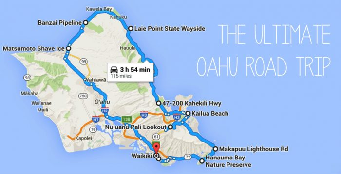 Unforgettable Road Trips To Take In Hawaii Before You Die - Road map of hawaii
