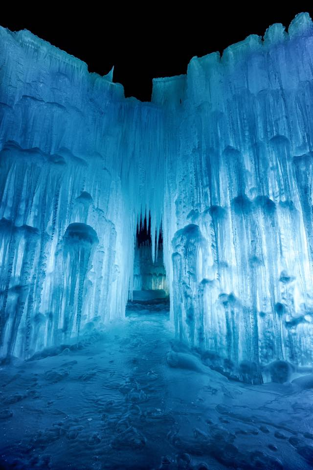the lincoln ice castles in new hampshire are straight from a fairy tale