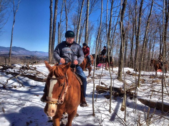 The Winter Horseback Riding Trail In New York That S Pure