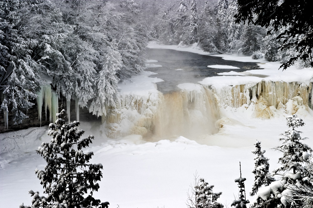 8 Waterfalls In Michigan That Are Beautiful When Frozen In