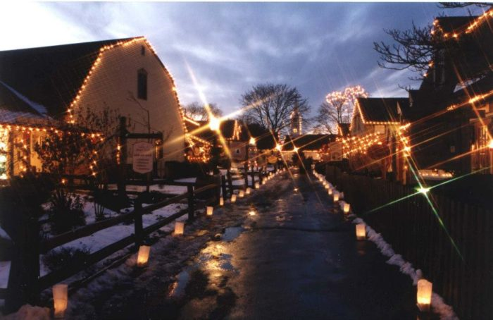 Christmas Village With Lights