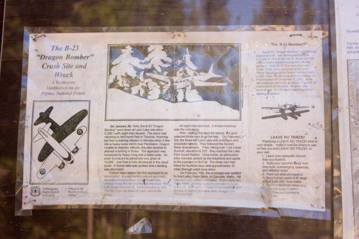 B-23 Dragon Bomber Plane Crash Site - Idaho