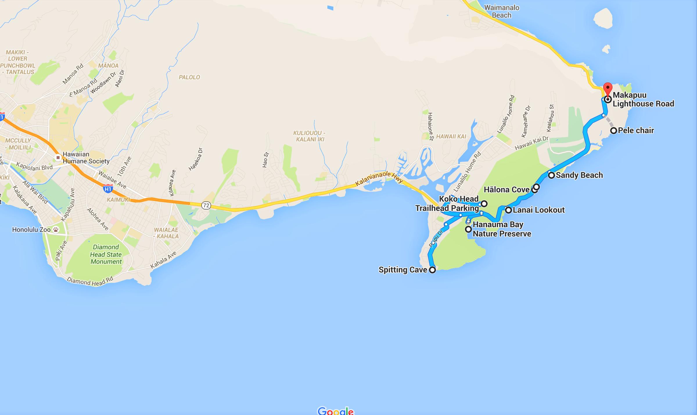 Unforgettable Road Trips To Take In Hawaii Before You Die - Hawaii road map