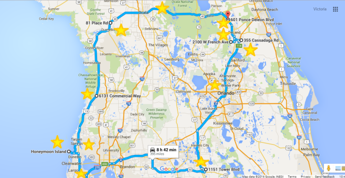 Florida Central Map.7 Unforgettable Life Changing Road Trips Through Florida