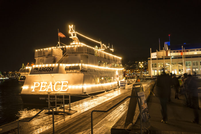 catch a glimpse of the christmas ships on lake union in the seattle area