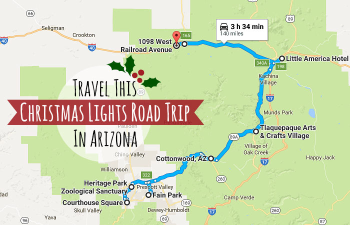 Travel This Christmas Lights Road Trip In Arizona – Arizona Travel Map