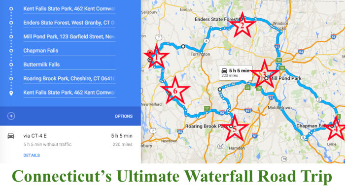 The Road Trips Bucket List In Connecticut Is Full Of Adventure - Road map of ct