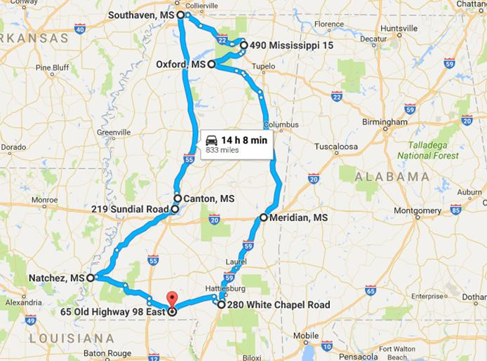 Road Trip Through The Best Christmas Towns In Mississippi - Ms road map