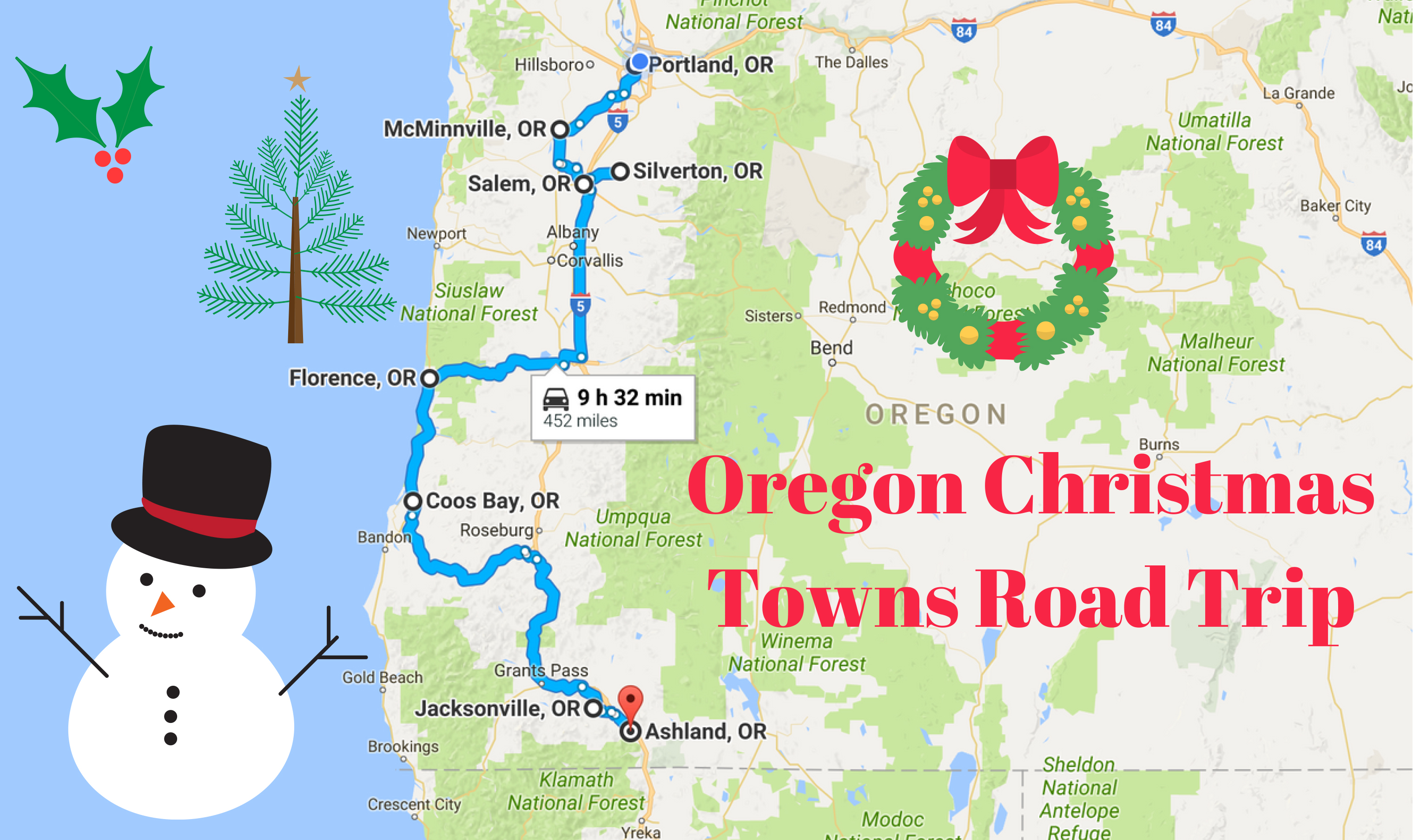 The Magical Christmas Towns Road Trip Through Oregon