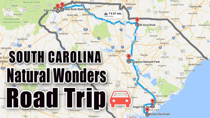 9 MustDo South Carolina Road Trips With Maps Included