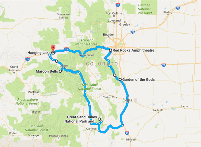 Unforgettable Road Trips To Take In Colorado Before You Die - Colorado road maps