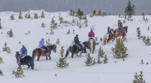 The Winter Horseback Riding Trail Near Denver That's Pure Magic