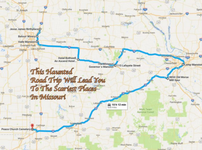 The Most Unforgettable Road Trips In Missouri - Missouri road map